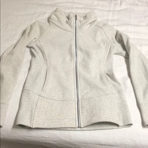 Lululemon Radiant Jacket, heathered white.